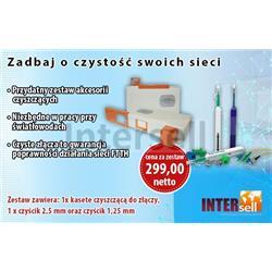 Zestaw akcesoriów czyszczących do złączy światłowodowych 2.5mm i 1.25mm SC, LC itp.-101003