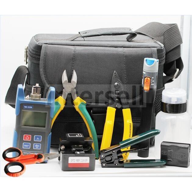 Światłowodowy zestaw narzędziowy, 9 narzędzi w poręcznej torbie-101059