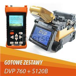 Zestaw Spawarka Światłowodowa DVP-760 + Reflektometr Optyczny S120B + GRATISY