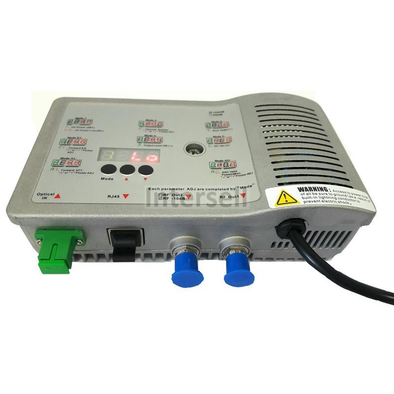 Reciever - odbiornik optyczny CATV FTTB, RF - 108dBuV, input -9- 2 dBm, SNMP-101906