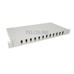 """Przełącznica 19"""" 1U 12 portów SC Duplex (organizer kabli + tacka)-105156"""