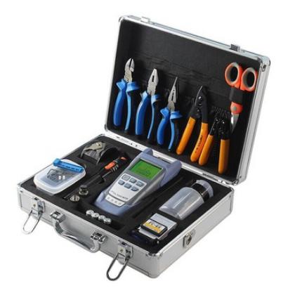 Zestaw narzędziowy FTTH, 11 narzędzi w walizce - OPM, cleaver-101891