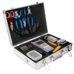 Zestaw narzędziowy FTTH, 11 narzędzi w walizce - OPM, cleaver-101890