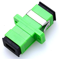 SC/APC adapter, single mode (SM), simplex, latch-mounted